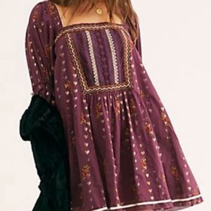 "FREE PEOPLE ""Swiss Miss Mini Dress"" NWT"